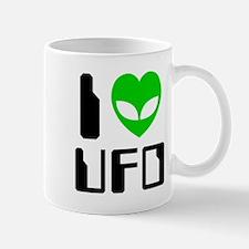 I Alien Heart UFO Mugs