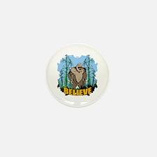 Believe in Bigfoot 3 Mini Button (10 pack)