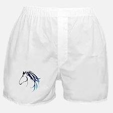 Classic Blue Horse Head Logo Boxer Shorts