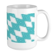 Lazy Diamonds Aqua Mugs