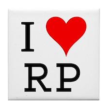 I Love RP Tile Coaster