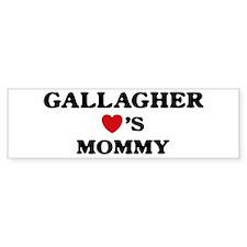 Gallagher loves mommy Bumper Bumper Sticker