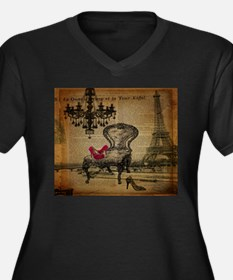 modern chandelier paris eiffel tower Plus Size T-S