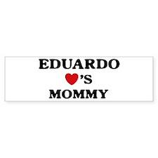 Eduardo loves mommy Bumper Bumper Bumper Sticker