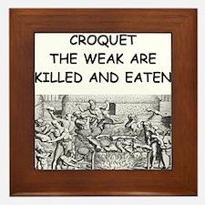 CROQUET6 Framed Tile