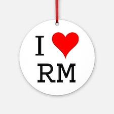 I Love RM Ornament (Round)