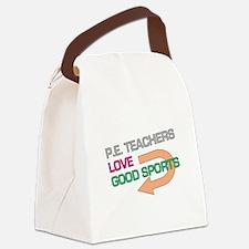 P.E. Teachers Good Sports Canvas Lunch Bag