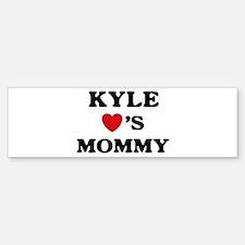 Kyle loves mommy Bumper Bumper Bumper Sticker