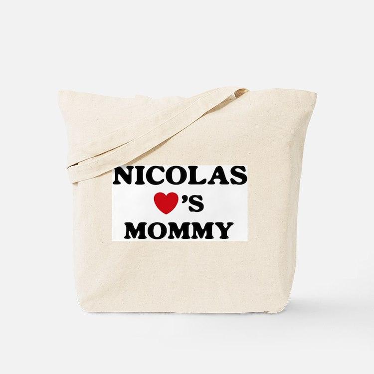 Nicolas loves mommy Tote Bag
