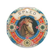vintage horse Ornament (Round)
