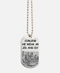 CURLING3 Dog Tags
