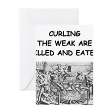 CURLING3 Greeting Cards