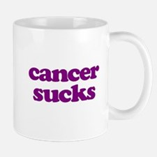 Cancer Sucks Purple Awareness Mugs