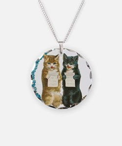 funny singing cats Necklace