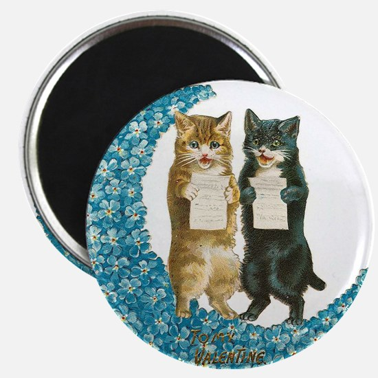 funny singing cats Magnets