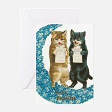 funny singing cats Greeting Cards