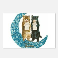 funny singing cats Postcards (Package of 8)