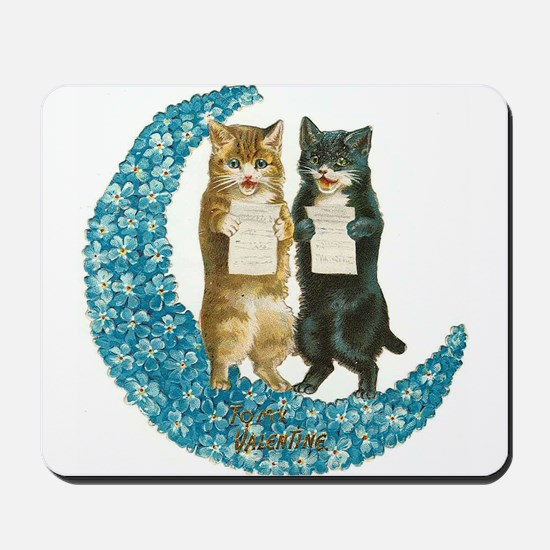 funny singing cats Mousepad