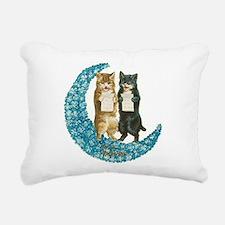 funny singing cats Rectangular Canvas Pillow