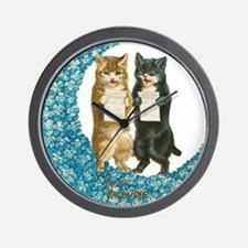 funny singing cats Wall Clock