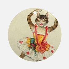 cat ballerina Ornament (Round)
