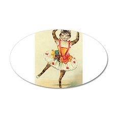 cat ballerina Wall Decal