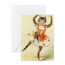 cat ballerina Greeting Cards