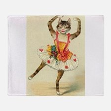 cat ballerina Throw Blanket