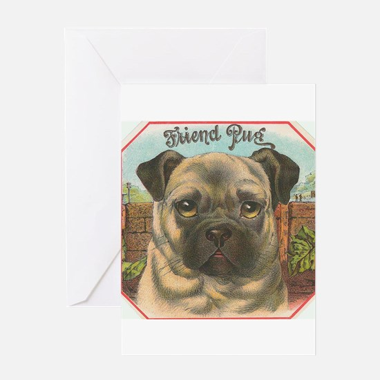 pug dog Greeting Cards