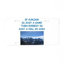 CURLING4 Aluminum License Plate