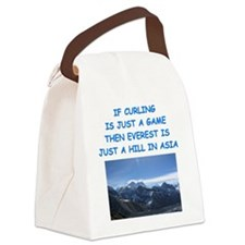 CURLING4 Canvas Lunch Bag