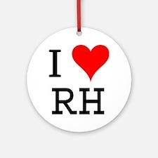 I Love RH Ornament (Round)
