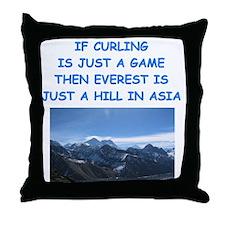 CURLING4 Throw Pillow