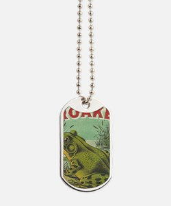 funny frog picture Dog Tags