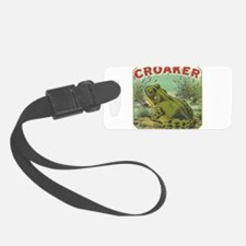 funny frog picture Luggage Tag