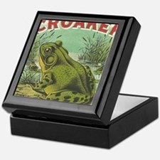 funny frog picture Keepsake Box