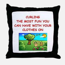 CURLING Throw Pillow
