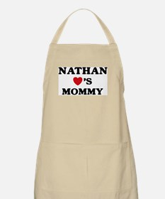 Nathan loves mommy BBQ Apron