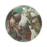 Horse Round Ornaments