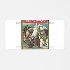 vintage horses Aluminum License Plate