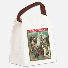 vintage horses Canvas Lunch Bag