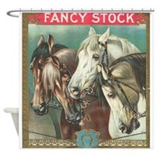 vintage horses Shower Curtain