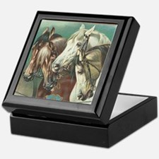 vintage horses Keepsake Box