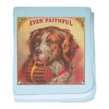vintage dog picture baby blanket