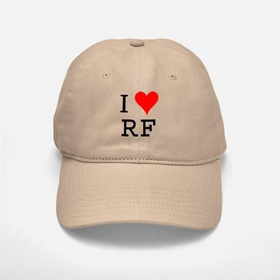 I Love RF Baseball Baseball Cap