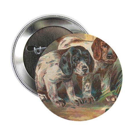 """vintage funny dogs 2.25"""" Button (100 pack)"""