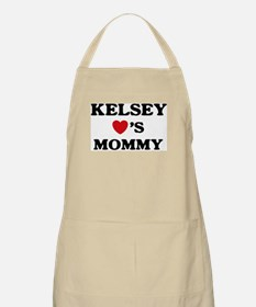 Kelsey loves mommy BBQ Apron