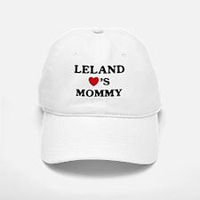 Leland loves mommy Baseball Baseball Cap
