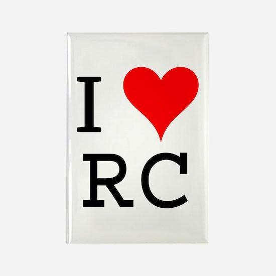 I Love RC Rectangle Magnet