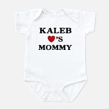 Kaleb loves mommy Infant Bodysuit